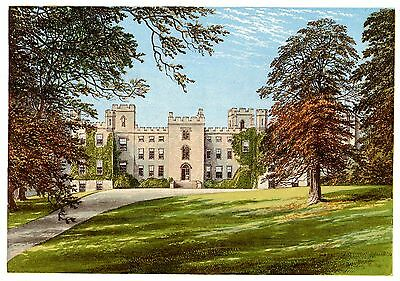Mulgrave Castle, Near Whitby, Yorkshire - Seat of Marquis of Normanby - c1865