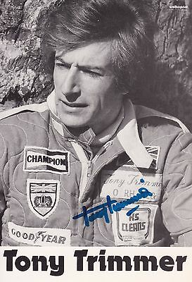 TONY TRIMMER, handsigned autograph card