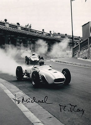 MICHAEL MAY in F1 car, handsigned photo
