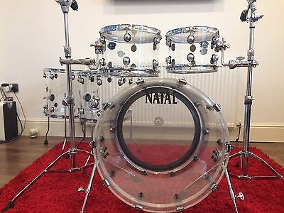 Natal Arcadia Acrylic Drum Kit. 5 Piece Shell Pack