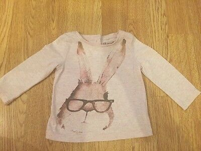 Next Baby Girls Bunny Long Sleeved Top 6-9 Months