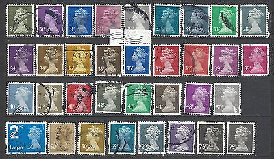 British stamps machin stamps mixed machin collection higher values gb