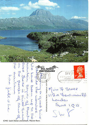 1993 Loch Maree & Slioch Wester Ross Scotland Colour Postcard