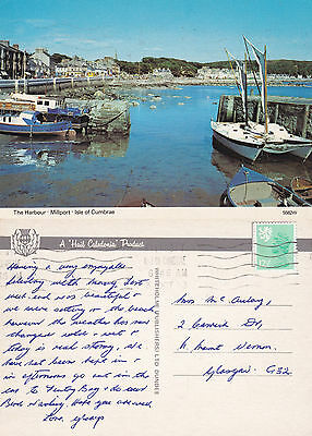 1983 The Harbour Millport Isle Of Cumbrae Ayrshire Scotland Colour Postcard