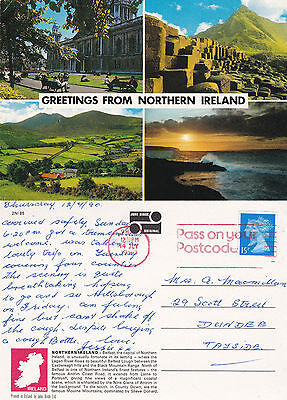 1990 Multi Views Of Northern Ireland Colour Postcard