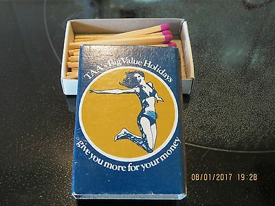 TAA (lady on front) airline matchbox