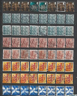 British stamps regional collection stamps machin gb Good mix