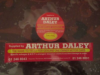Arthur Daley car sales stickers, twin pack, for cars, vans, home etc, funny!