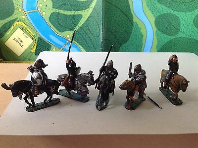Citadel Ral Partha Preslotta Mounted Fighter figures X5.