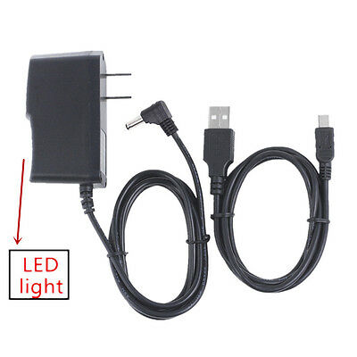 AC/DC Power Charger Adapter+USB Cord For RCA 11 Galileo Pro RCT6513W87 DK Tablet