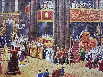 Vintage 400+ Piece Coronation Jigsaw Complete but Original Box is Badly Worn