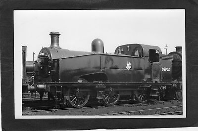 LNER loco No.68903 at DONCASTER iN 1956-Proper R/P-P/C glossy photo