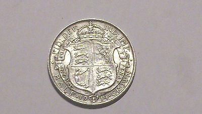 1914 George V Silver Half Crown - Uncirculated