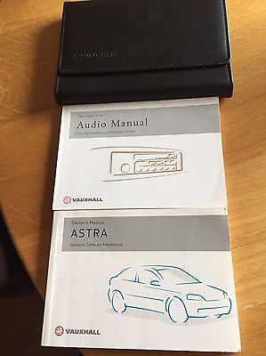 Vauxhall Astra Mk4 Owners Manual And Audio Manual In A Nice Wallet.