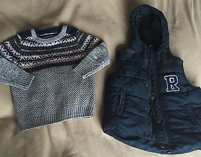 Boys Gilet And Jumper 2-3 Years