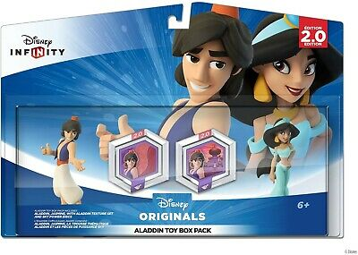 Original Disney Infinity 2.0 Aladdin & Jasmine Toy Box Playset Pack Figures New
