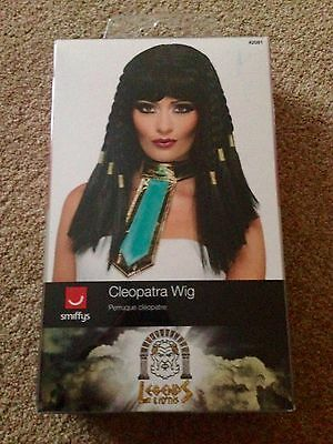 Black Cleopatra Wig Adult Womens Smiffys Fancy Dress Costume