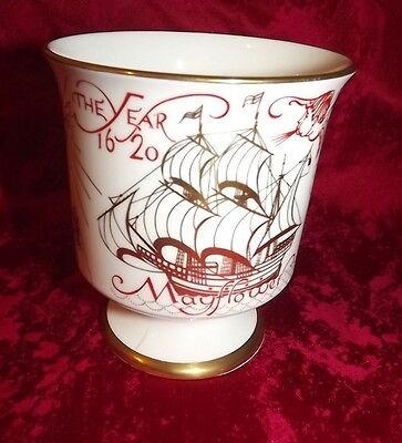 Coalport Limited Edition Mayflower 350Th Anniv Sailing Plymouth Goblet 1970