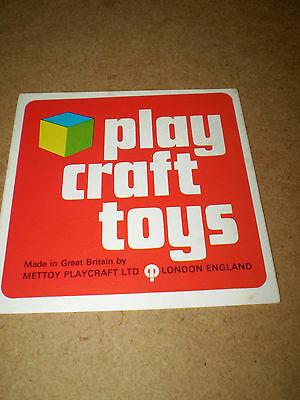 PLAYCRAFT TOY CATALOGUE 1970's EDITION EXCELLENT CONDITION FOR AGE