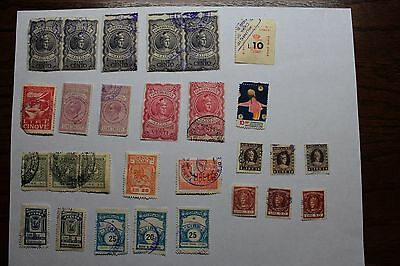 Italy Revenue Service Fee Stamps-24 total stamps