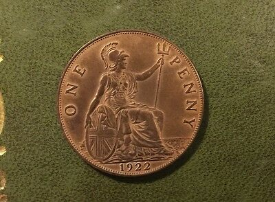 Nice George V Old Penny - 1922
