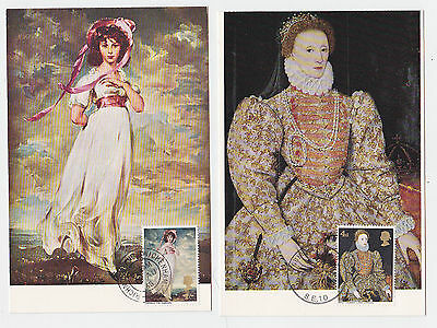 Ref. 1661 Complete Set Of 4  Famous Paintings Maxi Cards 1968