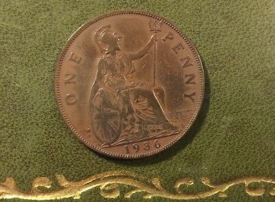 Nice George V Old Penny - 1936