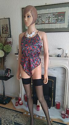 BNWT CAMEO Sexy,Silky,Soft,Glossy,Satin,Teddie,Camiknicker Playsuit,Uk 10/12 No3