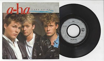 "A-HA Take On Me/Love Is Reason - EX/VG+ Cond 1985 Warner Brothers 7"" Single"