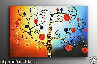 Original Oil painting fairyland tree canvas Framed - Ready to be hung