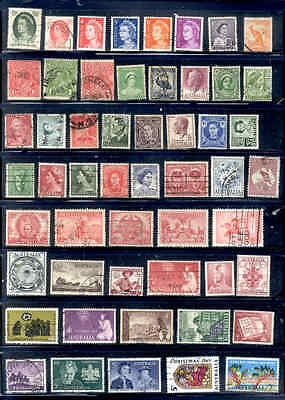 190 Different Stamps: Australia Commemoratives Definitives Used