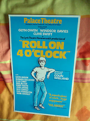 Roll On 4 O'clock By Colin Welland - Palace Theatre London