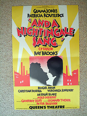 And A Nightingale Sang....queen's London - 1979- Original- Routledge / Jones