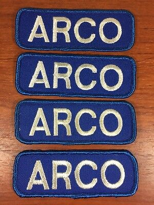 Vintage Gas & Oil Advertising Collectible ARCO Service Station Employee Patches