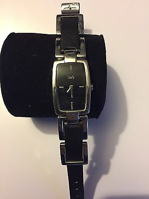 Women's Authentic D&G Black And Silver Watch Fully Working Order