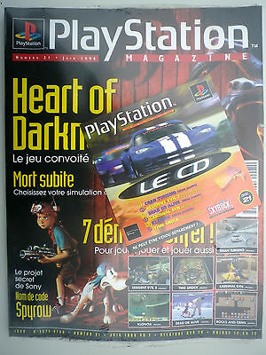 NEUF Collector PLAYSTATION MAGAZINE N°21 SOUS EMBALLAGE  PS1 SONY SEGA NINTENDO