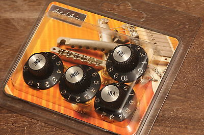 """60's Witchhat Knobs Silverface Relic fit to Gibson®""""Art of Aging""""Series"""