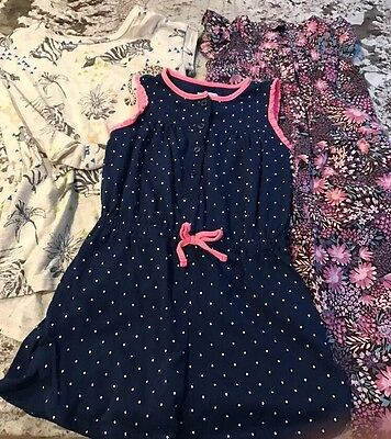 3 Baby Gap Toddler Girl Rompers Size 4T