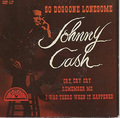 """7"""" SLEEVE ONLY Johnny Cash EP SUN SEP 117 So doggone lonesome COVER ONLY"""
