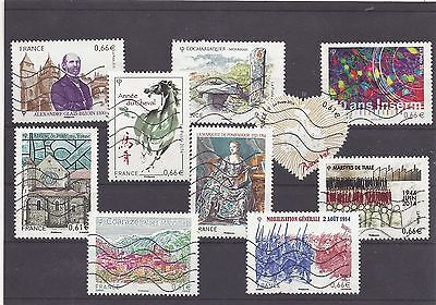 FRANCE recent mix commemoratives 2014 used