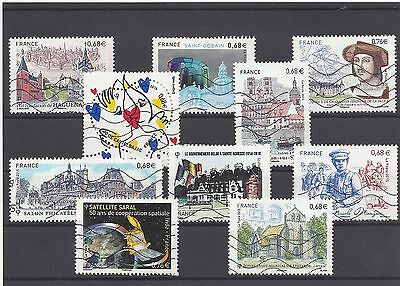 FRANCE recent mix commemoratives 2015 used