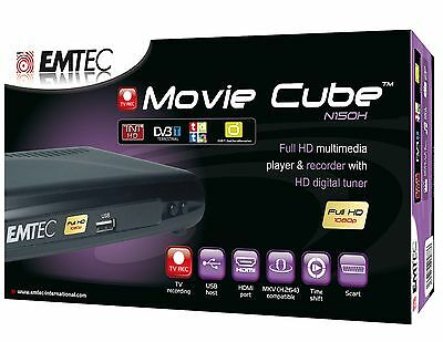 Full HD Multimedia Player & Recorder EMTEC Movie Cube N150H - DVB-T - Come nuovo