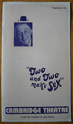 Two and Two Make Sex Theatre Programme Patrick Cargill Richard Beckinsdale