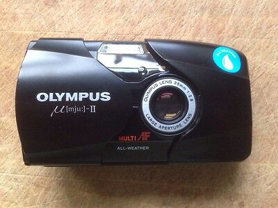 Olympus mju II Stylus Epic with sharp f2.8 lens & soft case.Very good condition