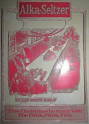 Christmas with The Plink Plink Fizz' Alka Seltzer printing plate -Mike Williams
