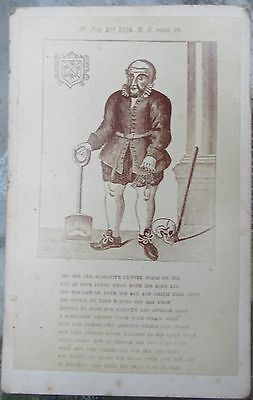 Original 1869 postcard  William Ball photography Peterborough Cathedral carving