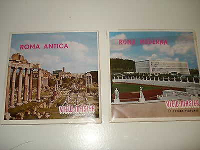 Viewmaster packet ROMA ANTICA & ROMA MODERNA  sawyers issue C035 C036