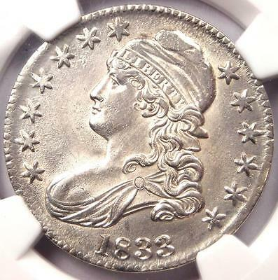 1833 Capped Bust Half Dollar 50C - NGC Uncirculated (BU MS UNC) - Nice Luster!