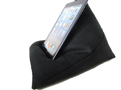 Ipad Pillow / Tablet Cushion / Kindle Stand / Black Fabric