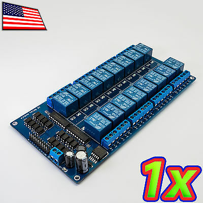 16 Channel 250VAC DC 10A Relay Module Board Shield Arduino Pi 5V Optoisolated IO